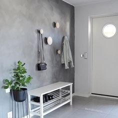 Love the beautiful hallway of @astridm.interior Menu Wire Plant Pot and Stand available in our sale. . PS. Our Summer Sale ends midnight tonight ✨ . #hallway #hallwaydecor #nordichome #nordicinspiration