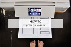 How to Print on Vell