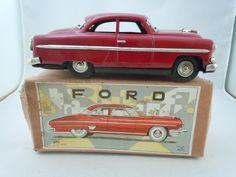 Vintage 1950's Tin Friction Ichiko Ford Coupe Japan NMIB   eBay