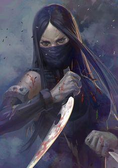 Fantasy Inspiration — we-are-rogue: assassin by Yudai Abe Dark Fantasy Art, Fantasy Rpg, Fantasy Girl, Fantasy Artwork, Fantasy Inspiration, Character Inspiration, Fantasy Character Design, Character Art, Arte Ninja