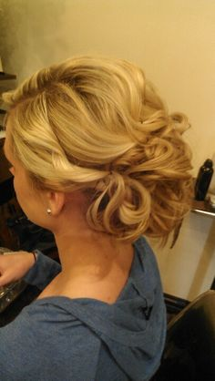 My clients wedding updo