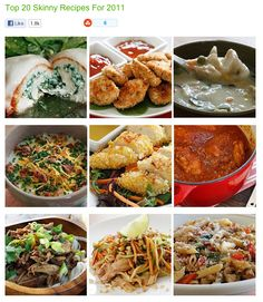 Top 20 Skinny Recipes from 2011 via skinnytaste.com