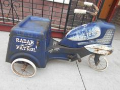 Antique Vintage 1950's Murray Chain Driven Police Radar Patrol Pedal Tricycle