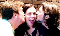 Nathan Fillion with Lana Parrilla and Fred Di Blasio in Vancouver (x) (x) (x)
