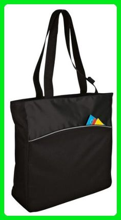 Two-tone Polyester Women's Tote Bags (Black/Black) - Shoulder bags (*Amazon Partner-Link)