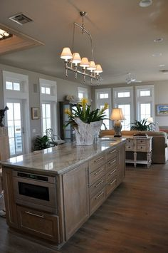 beach house kitchen - large island