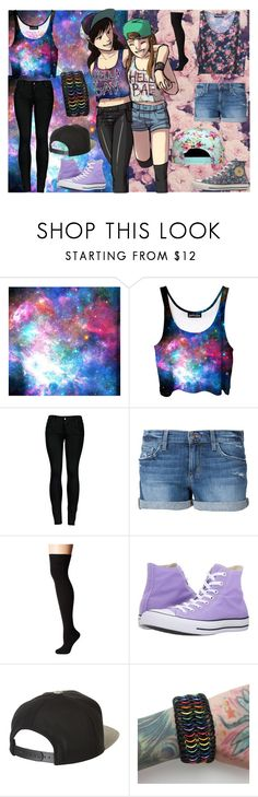 """HELLA GAY- HELLA BAE"" by emo-music-lover ❤ liked on Polyvore featuring 2LUV, Joe's Jeans, Socksmith, Converse and Brixton"