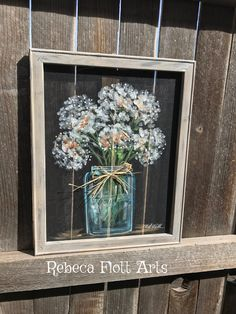At 16x20 inches this beautiful art on screen with a recycled frame. Offers you something extremely unique to decorate your home. It goes great with rustic, or country styled homes, or homes that are looking for something extraordinary. This wonderful hand painted piece can also liven