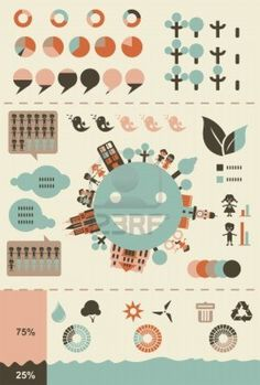 Ecological Infographics And Charts In Retro Colours Royalty Free Cliparts, Vectors, And Stock Illustration. Image 15008152.