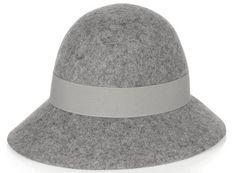 Chapeau à large bord en feutre de laine gris Stella McCartney