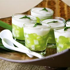 Buco Pandan Cups. another version of the Thai Tago