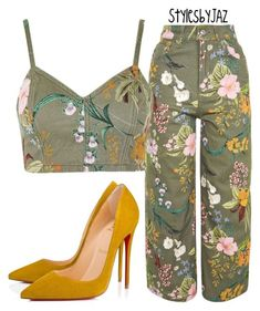 """""""Untitled #810"""" by harrisjazmin on Polyvore featuring Topshop and Christian Louboutin"""