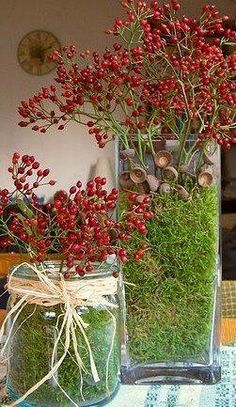 ♆ Blissful Bouquets ♆ gorgeous wedding bouquets, flower arrangements & floral centerpieces - berry bouquets for christmas Fall Crafts, Christmas Crafts, Diy And Crafts, Christmas Decorations, Xmas, Christmas Centerpieces, Christmas Ornaments, Table Decorations, Deco Nature