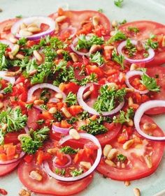 Veggie Recipes, Salad Recipes, Dinner Recipes, Ceviche, I Want Food, Carpaccio, Healthy Recepies, Side Dishes For Bbq, Barbecue Recipes