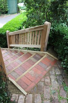 Nice Making Garden Steps   Red Brick And Wood