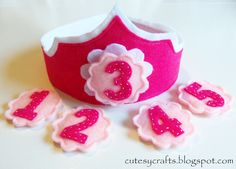 A Birthday crown for every year!  Just change the number!  So smart and cute!