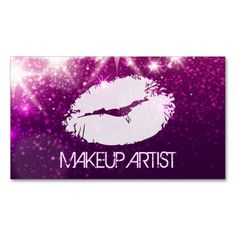 The 1210 best glitter sparkle business cards images on pinterest cosmetology makeup artist stylish purple glitter business card colourmoves