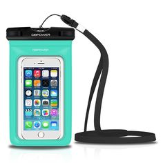 DBPOWER Universal Waterproof Phone Case Dry Bag for iPhone Samsung Galaxy etc. Waterproof, Dust Dirt Proof, Snow Proof Pouch for Cell Phone up to 6 inches (Green) Iphone 4s, Apple Iphone, Iphone Cases, Samsung Galaxy S3, Waterproof Phone Case, 6s Plus, Cell Phone Accessories, Pouch, Amazon