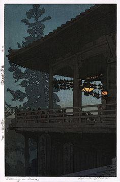 """Hiroshi Yoshida's """"Evening in Nara"""""""