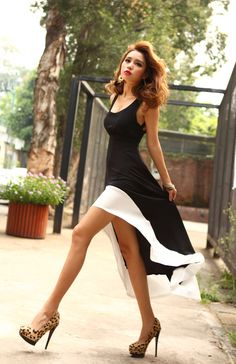 Fantastic black and white dress