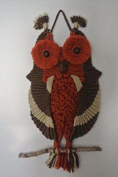 Owl macrame, the Netherlands.