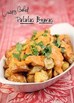 Crispy Baked Patatas Bravas - Barbara Cooks