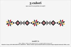 Find Beading Inspiration With Cross Stitch Patterns! Loom Bracelet Patterns, Beading Patterns, Knitting Patterns, French Knot Embroidery, Folk Embroidery, Mexican Pattern, Mug Printing, Romania, Cross Stitch Patterns