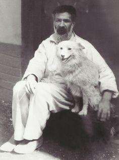 Constantin Brancusi with his dog Polaire, Photo by ullstein bild/ullstein bild via Getty Images.