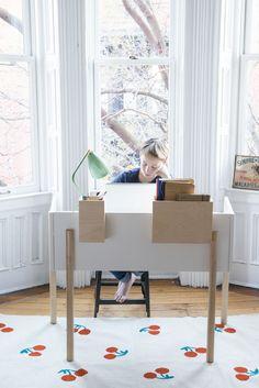 Oeuf Schreibtisch Brooklyn Weiß/Birke