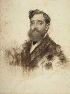 Portrait of Ignacy Gener is one of artworks by Ramon Casas i Carbó. Artwork analysis, large resolution images, user comments, interesting facts and much more. Guy Drawing, Life Drawing, Figure Drawing, Painting & Drawing, Portrait Sketches, Portrait Art, Ramones, Found Art, Spanish Artists