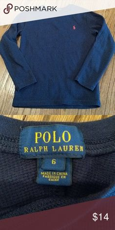 Polo Ralph Lauren thermal long sleeves tee Euc Polo by Ralph Lauren Shirts & Tops Tees - Long Sleeve