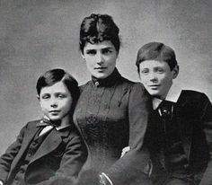lady randolph churchill images | ... Jerome, Lady Randolph Churchill, with her sons John (L) and Winston