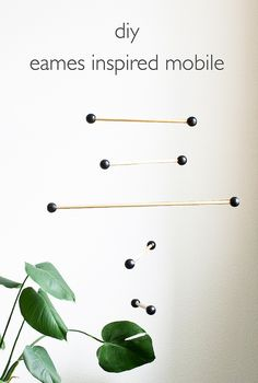 DIY Eames Inspired Mobile | click through for the full tutorial! by Vitamini, via Flickr