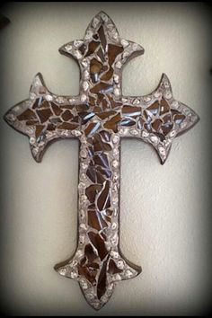 decorative wooden crosses for wall – Decoration ideas Mosaic Crosses, Wooden Crosses, Crosses Decor, Wall Crosses, Decorative Crosses, Mosaic Art, Mosaic Glass, Stained Glass, Cross Wall Decor
