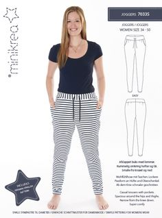 Skirts & Pants - Minikrea Sewing Patterns - Joggers 70335 - a-Röcke & Hosen – Minikrea Schnittmuster – Joggers 70335 – ein Designerstück von… Skirts & Trousers – Minikrea Sewing Pattern – Joggers 70335 – a unique product by stoffsalon on DaWanda - Knitting Patterns, Sewing Patterns, Sewing Courses, Sewing Pants, Pants For Women, Clothes For Women, Pants Pattern, Madame, Boyfriends