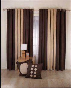 dark brown drapery ideas for bedroom near small coffee table
