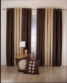 dark brown drapery ideas for bedroom near small coffee table
