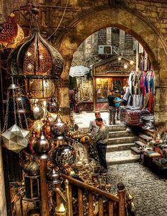 Lanterns in the grand bazaar cairo