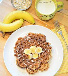 Healthy Banana Waffle....we love waffles. Really, we are a little obsessed with waffles.