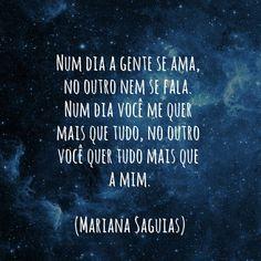 Eu assisti ao meu amor morrer. #entretodasascoisas #marianasaguias (@xxmss)