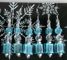 Beaded Christmas Ornaments Set of Two Icicle Style by MiscKDesigns