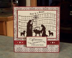 Handmade Religious Christmas Card  Embossed by WhimsyArtCards