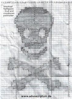 Totenkopf Topflappen - scull and crossbones pothholder