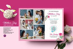 Mother's Day Photos, Photography Marketing, Mini Sessions, Professional Photographer, Photoshop, Templates, Stencils, Vorlage, Models