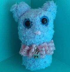 Blue Cat by CottoncandyFanfare on Etsy Amigurumi, crochet, vintage, cute, hand made