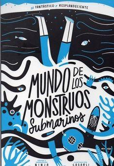 Un libro que te permite interactuar. Con mucho movimiento. Mundo de los monstruos submarinos. Ninja. Ed. Libros.Gif. Ninja, Arabic Calligraphy, Art, Submarines, Degree Of A Polynomial, Monsters, Book, Art Background, Kunst