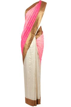 Pink. Off White. Gold. #indianoutfit #sari