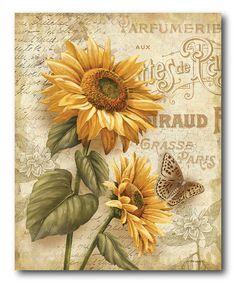 Love this Country Flowers II Gallery-Wrapped Canvas on #zulily! #zulilyfinds