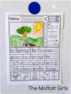 Kindergarten and 1st Grade WRITING! Journal Prompts with I Can Statements and an illustrated word bank to help generate ideas!