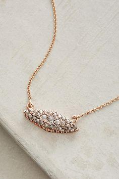 Navette Diamond Pendant Necklace